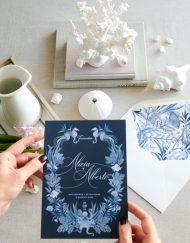 Invitaciones de boda marinera