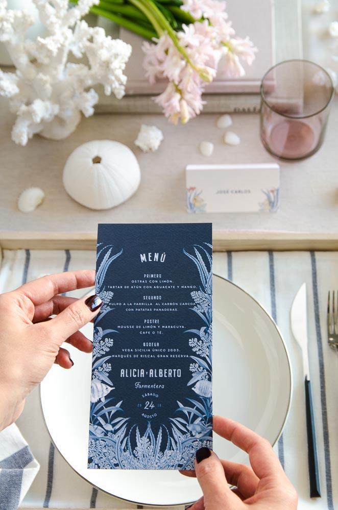 Invitaciones de boda playa mar peces-9866