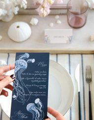 Invitaciones de boda playa medusas vert