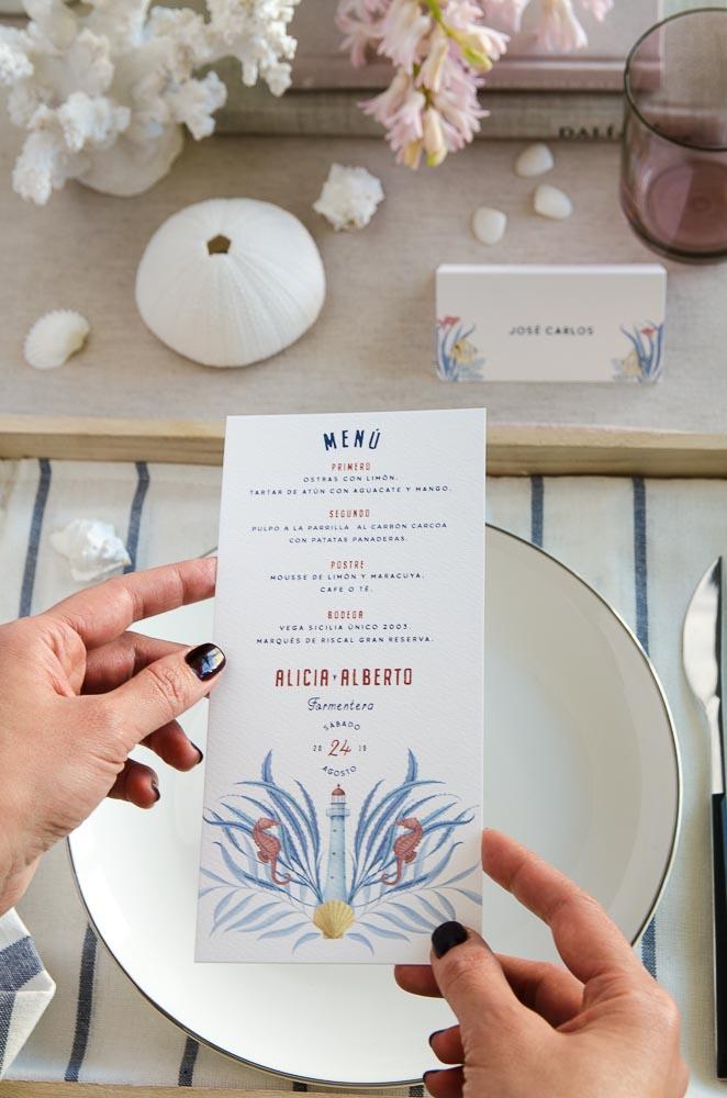 Invitaciones de boda playa mar peces-9908