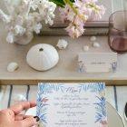Invitaciones de boda playa mar peces-9934