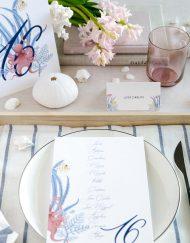 Invitaciones de boda playa mar peces-9938