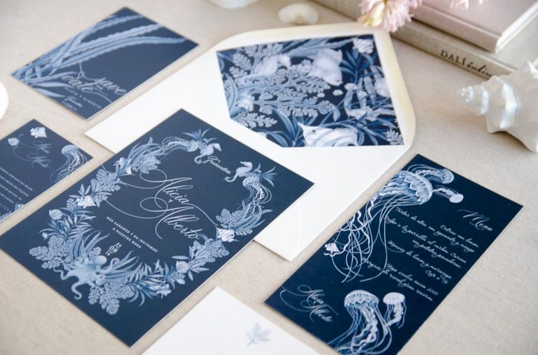 Invitaciones de boda playa mar peces-9994