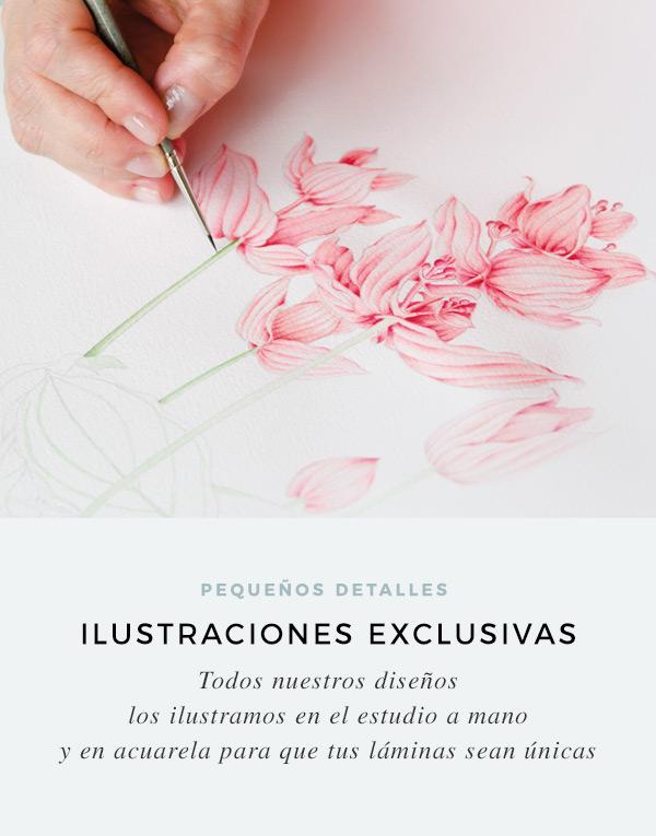 laminas-con-ilustraciones-en-acuarela-hechas-a-mano-CUADRADAS