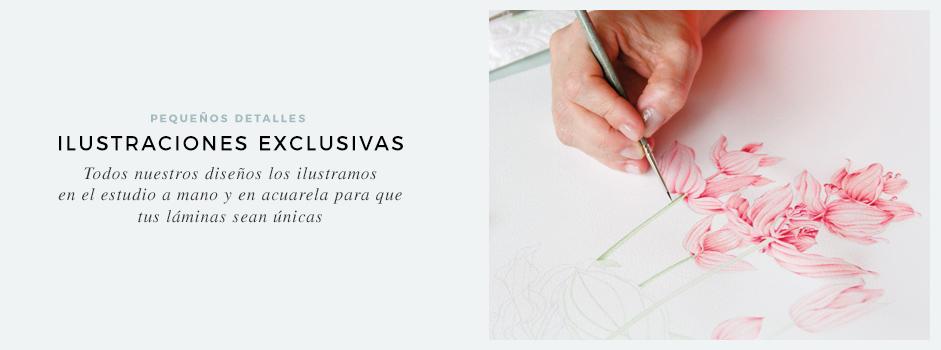 laminas-con-ilustraciones-en-acuarela-hechas-a-mano