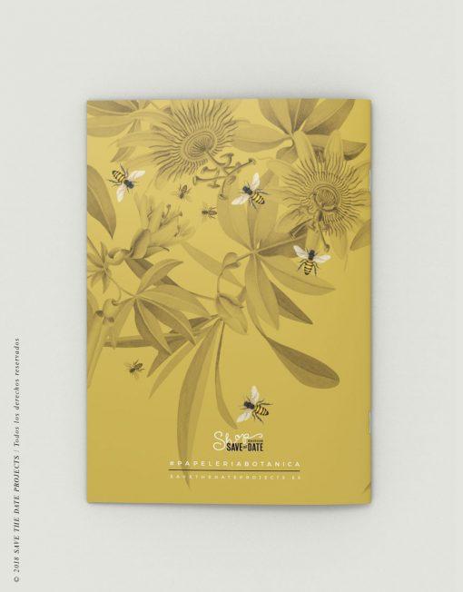LIBRETA-dibujos-botanicos-bichos-abejas-mostaza-CONTRAPORTADA