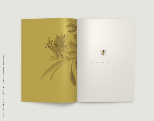 LIBRETA-dibujos-botanicos-bichos-abejas-mostaza-INTERIOR-izq