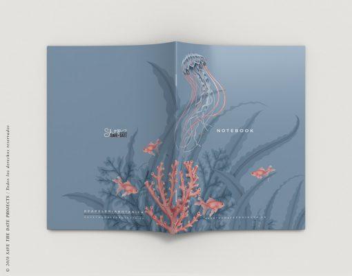 LIBRETA-dibujos-botanicos-mar-medusas-peces-EXTERIOR