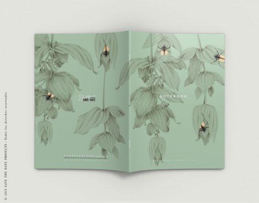 LIBRETA-dibujos-botanicos-mar-medusas-pecesselva-tropical-medinilla-escarabajo-EXTERIOR