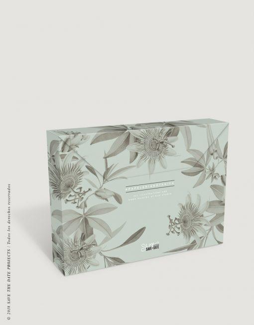caja-de-regalo-con-ilustraciones-botanicas-tropical-passiflora-gris-1