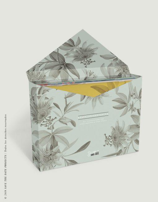 caja-de-regalo-con-ilustraciones-botanicas-tropical-passiflora-gris-2