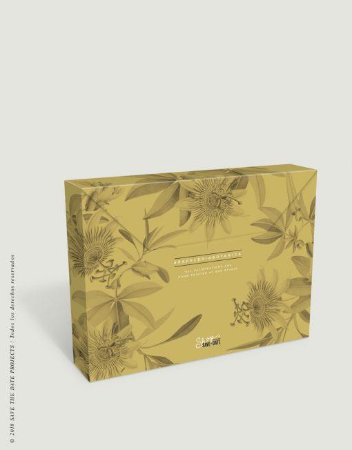 caja-de-regalo-con-ilustraciones-botanicas-tropical-passiflora-mostaza-1