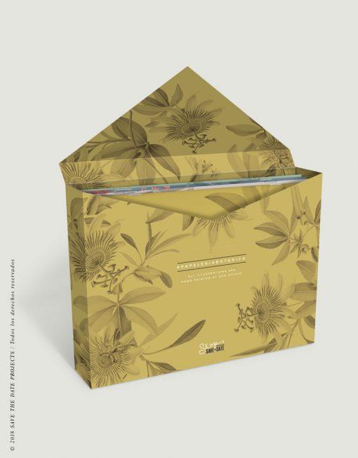 caja-de-regalo-con-ilustraciones-botanicas-tropical-passiflora-mostaza-2