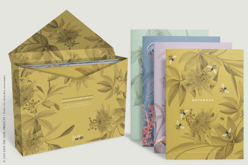 caja-de-regalo-con-ilustraciones-botanicas-tropical-passiflora-mostaza-3
