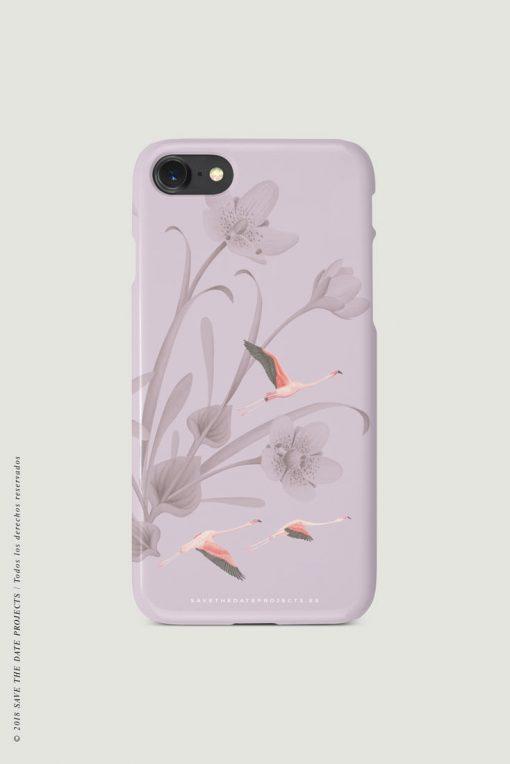 carcasa-iphone-7-DONANA-CUADERNO-flamencos-pajaros-cases-TRASERA