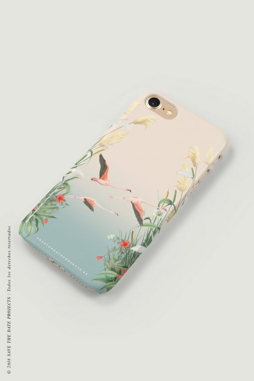carcasa-iphone-7-DOnANA-flamencos-pajaros-cases-LATERAL