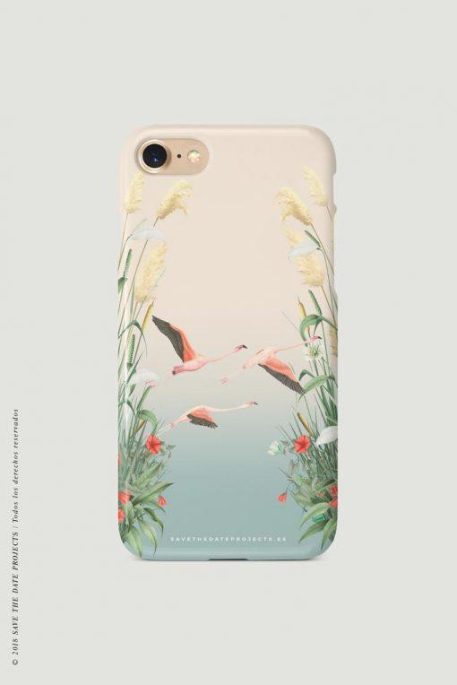 carcasa-iphone-7-DOnANA-flamencos-pajaros-cases-TRASERA