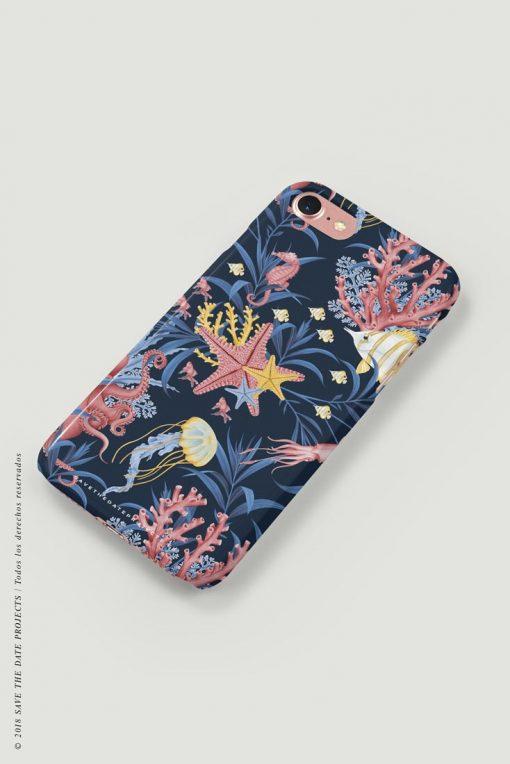 carcasa-iphone-7-OCEANO-CORAL-mar-peces-medusas-coral-pulpos-cases-LATERAL
