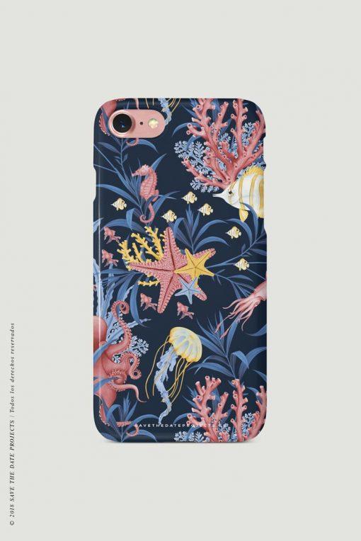 carcasa-iphone-7-OCEANO-CORAL-mar-peces-medusas-coral-pulpos-cases-TRASERA