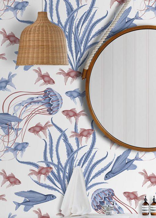 papel-pintado-BANO-marinero-medusas-detalle