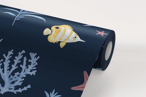 papel-pintado-MUARAL-BANO-marinero-infantil-azul-detalle