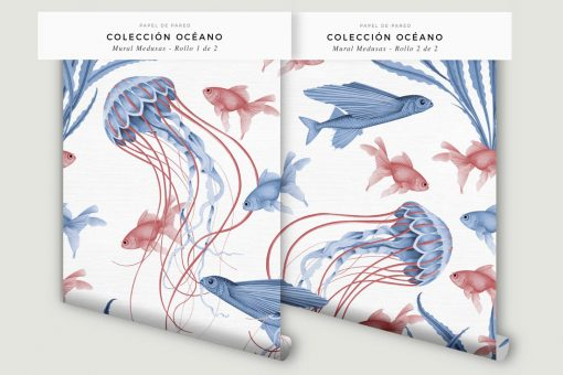 papel-pintado-MURAL-BANO-marinero-medusas-pano