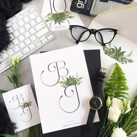 Invitaciones-de-boda-helechos-planta-vintage