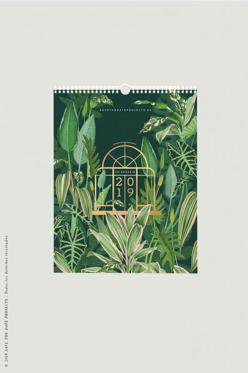 CALENDARIO-PARED-2019-MOCKUP-VERDES-DE-INTERIOR-THE-BOTANICAL-NOOK-PORTADA-FRENTE-VERTICAL