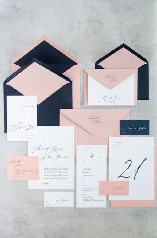 Branding de boda Toscana Tarjetas matrimonio caligrafia