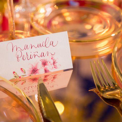 Puestos de mesa protocolo de boda trjeta posicion boda