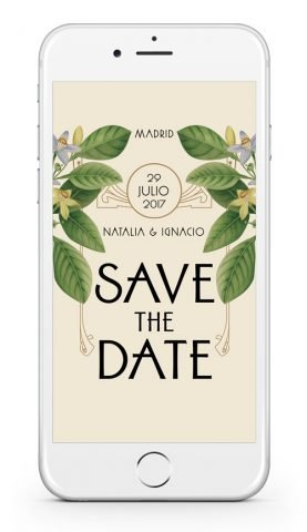 Save the date boda digital personalizado