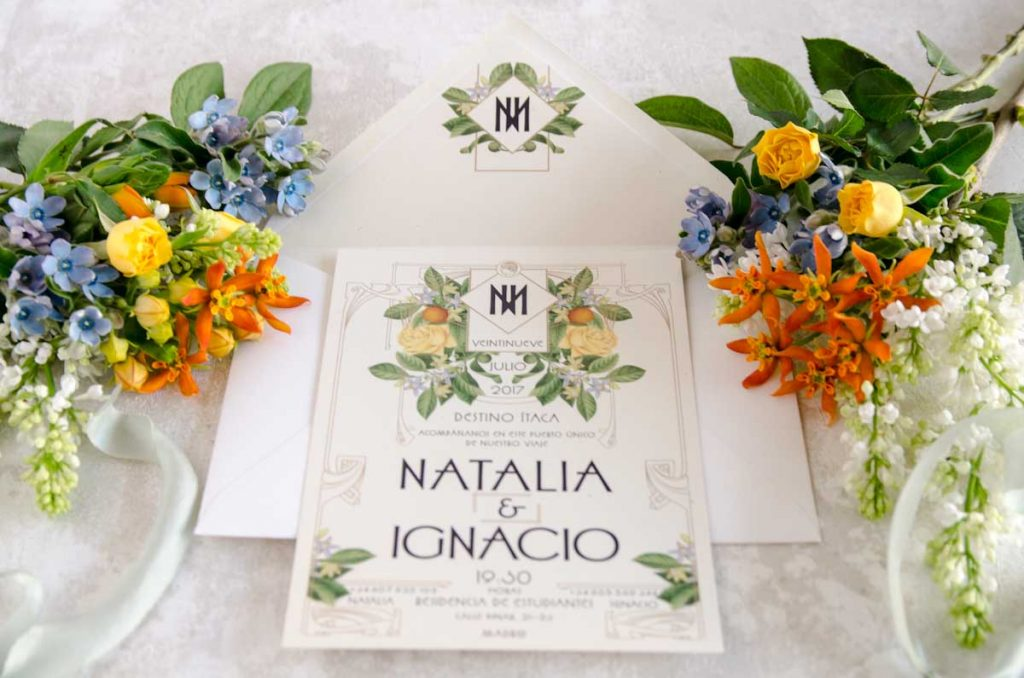 Tarjetas para boda originales personalizadas vintage