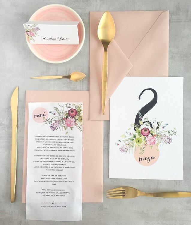 Tendencias de bodas 2019 papeleria materiales tela