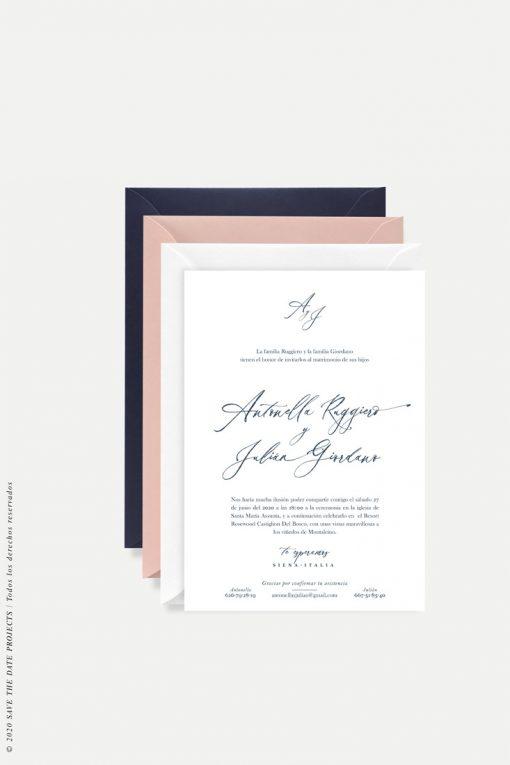 invitacion caligrafía Toscana
