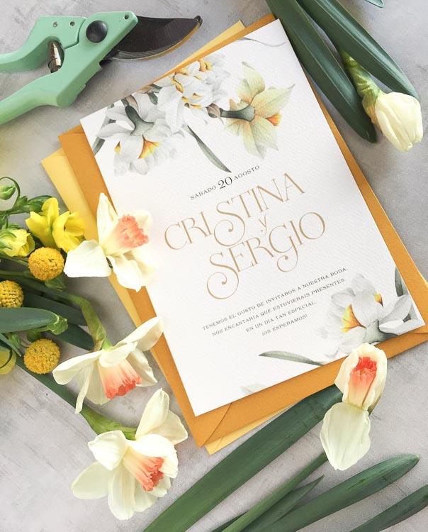 tendencias papeleria boda 2019 acuarelas