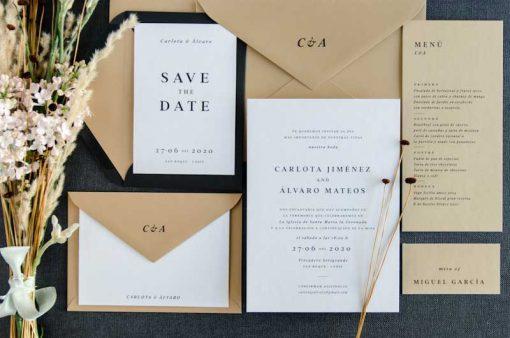 Invitacion boda otono Coleccion Urban Basic - ramo
