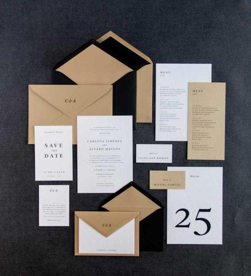 Invitacion boda otono Coleccion Urban Basica