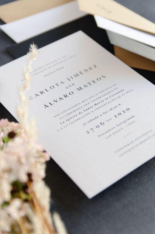 Invitacion boda otono urban basic detalle tarjeton boda