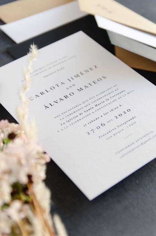Invitaciones De Boda Elegantes Urban Y Otoño Save The Date