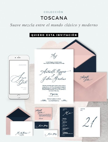 Invitaciones de boda elegante online Toscana COLECCION