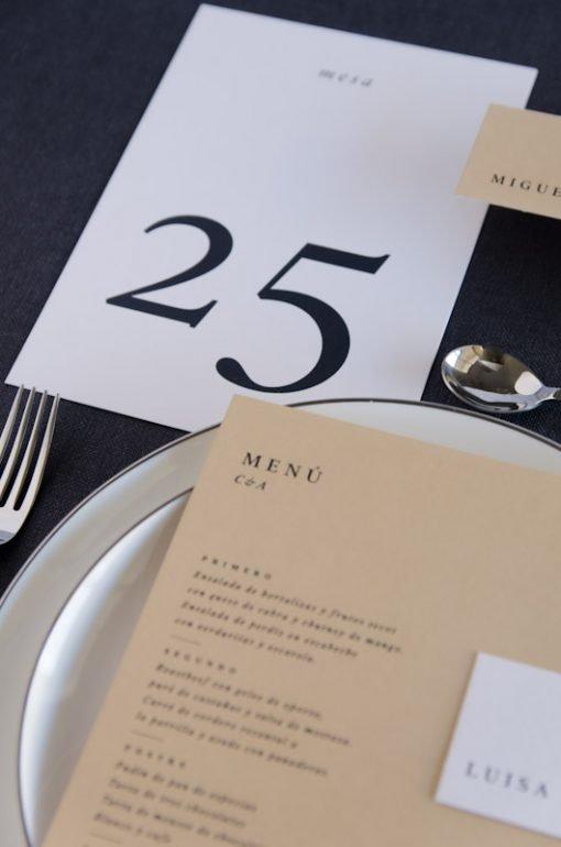 Numero mesa personalizado urban basic