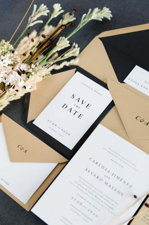 Save the date Coleccion Invitacion Boda otono Urban