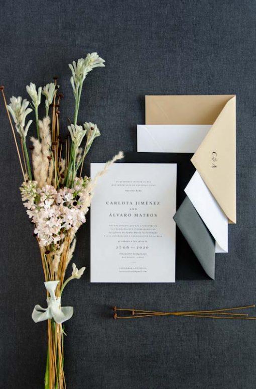 invitacion boda y sobres para boda colores urban basic