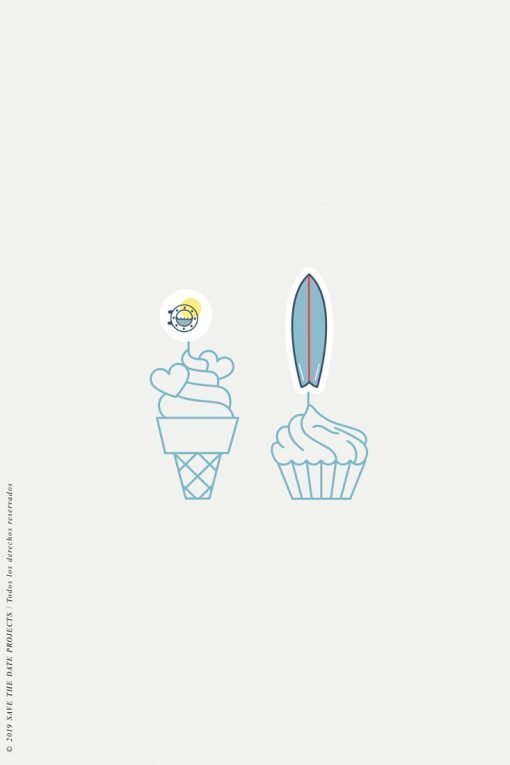 cake topper comunion nino surf 2