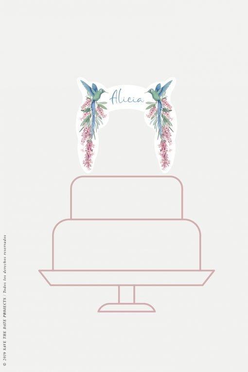 cake topper personalizado comunion nina colibri-2