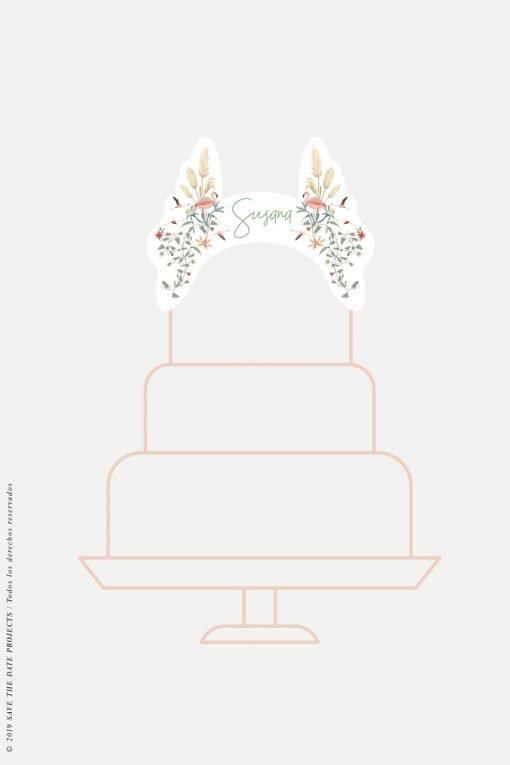 cake topper personalizado comunion nina flamencos-2