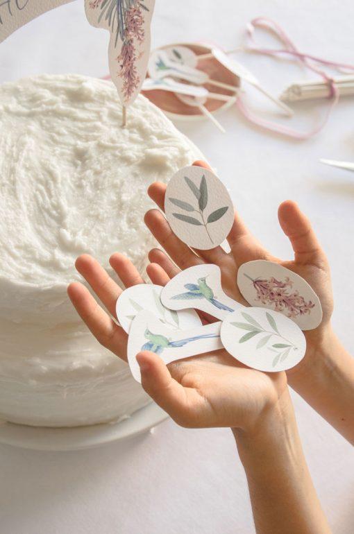 cake toppers de comunion nina colibri 2