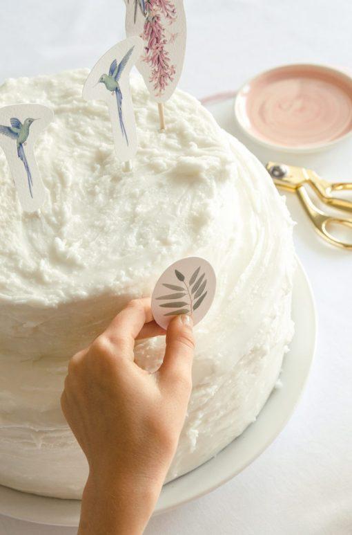 cake toppers de comunion nina colibri 2A