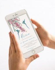 invitacion digital de comunion nina colibri 1