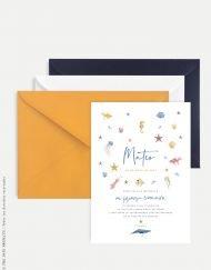 invitacion primera comunion nino personalizado marinero